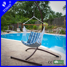 Deluxe Blue Striped Hanging Chair For Bedrooms