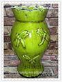 antigo vaso de cerâmica suporte de fotos