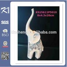 Long nose porcelain elephant for home decoration