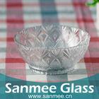 Embossed Decorative Design Glass Bowl For Fruit