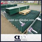 Powder coated welded mesh panel fence
