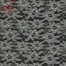 Fashion Common Design Cotton Nylon Silver Thread Lace Fabric