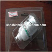 plastic Blister energy-saving lamp packing,newest blister packing 2700k led spotlight gu10