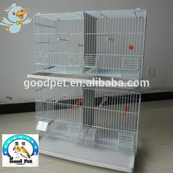 White wood standing pole breeding bird cage canary breeding cage