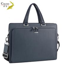 Dropshipping new models black patent hign end brand professional leather men's handbag