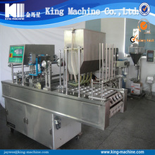 Automatic plastic sesame oil cup filling and sealing machine - with price / cost