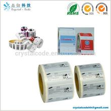 Various material laminate stickers sself adhesive label