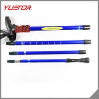Yuetor Brand 4 section aluminum telescopic anti-shock trekking pole/hiking stick[IN STOCK]