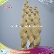 Premium quality tangle free virgin body wave blonde color hair bundles