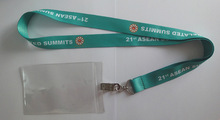 ASEAN summit used sumblimation lanyard with pvc badge