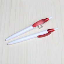 TC-7009 simple plastic pen with spiral pattern head solid white logo pen