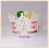 Xmas Party Decorations Cupcake Wrapper White Cupcake Liners Wraps Merry Christmas 2014