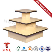 Melamine finishing supermarket standing ad with shelf brochure direct sale