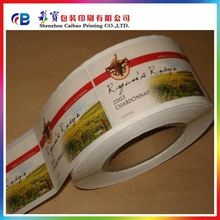 custom food labels of various shapes,full color labels,adhesive packaging sticker