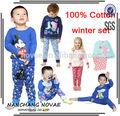 Inverno dois- peças terno peppa pig/mickey mouses/asseclas baby roupas meninos meninas 1 conjunto de serviços de varejo das crianças mickey mouse roupa