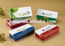 Varies gift rectangular shape tin box manufacture