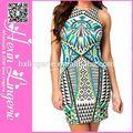 Envío rápido venta al por mayor de alibaba formal de los vestidos tropical