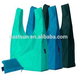 Good logo printing folding nylon shopper