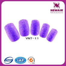 VIVINAILfake nails arts tips purple velet nail art designs
