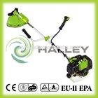 2 stroke straight shaft petrol float type brush cutter in garden tool