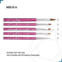 Aluminum Nail Art Pen, Nail Art Brush,Kolinsky Nail Art Brush