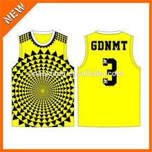 2014 sublimation printing basketball uniform