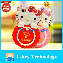 Wholesale mobile phone accessory 3D hello kitty silicone case for xiaomi mi3