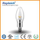 4w 5w led candle bulb e14 e27 b15 b22 led crystal light base with CE TUV