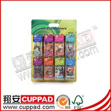Bulk car freshener,,promotion stands for supermarkets green tea scent.