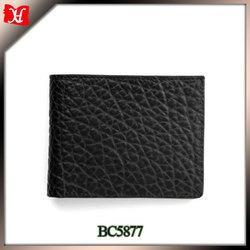 Famous brand men thin wallet genuine leather money wallet