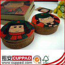China manufacturer print 2012 promotional tea coaster,cork mat