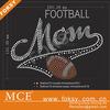 clothing NFL football mom rhinestone transfer