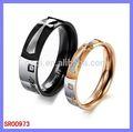 Énergétique en acier inoxydable bijoux charms anneau de dôme de verre