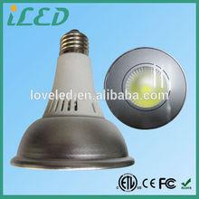 ETL Aluminum LED Housing 8Watt Long Neck Warm White Dimmable 120Volt E27 Osram LED PAR30 Lamps