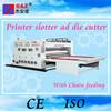 Corrugated carton box flexo printer slotter die cutter machine