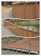 Outdoor wood plastic composite Handrail post product decorative wpc fencing