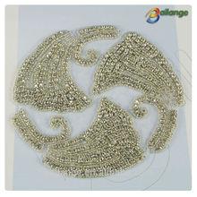 China supplier metal rhinestone heat transfers handmade pearl hair accessoris for women for women
