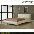 de cuero de imitación de la cama de hierro forjado cama doble ss8102