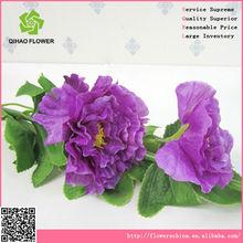 fazer flores de seda artificial atraente flor de hibisco com frutas para o presente