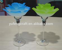 tall lotus flower tea light glass holder