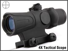 Trijicon ACOG TA31 Type 4x32 Crosshair Sight Scope w/ Fiber w/ Brightness Sensitive Reflex Docter Red Dot Sight, GL 4X32C2 Tan