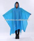 Waterproof Rain Poncho With Sleeves For Biking And Walking