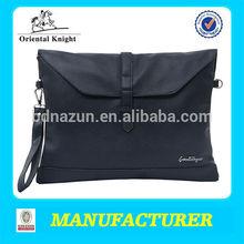 new design blue office PU leather portfolio folder 2014