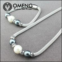 Fashion Flying Fairy Eye Peal Beads Aluminum Chain Jewelry Set