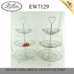 European style rattan iron stylish home decoration plate