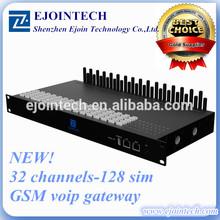2014 New Ejoin goip gateway 128 sim cards 32 ports multi sim rotation gsm gateway