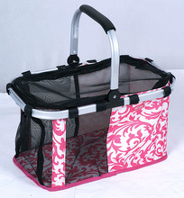 Super quality hot selling outdoor pet travel carrier with metal handle