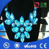 New design neck designs crystal stone work in dress