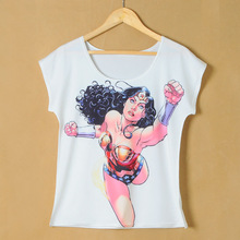Factory Directly Sale Women Digital Printing Short Sleeve T-shirt S106A-147