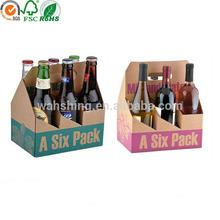 Custom printed cardboard 6 pack bottle beer carriers